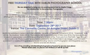 DPS Thursday Talk presented by Martin Cregg – 'An Introduction To Documentary Photography'