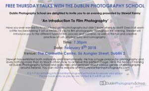 DPS Thursday Talk presented by Stewart Kenny – 'An Introduction To Film Photography'