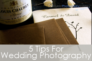 5 tips to improve your wedding photography