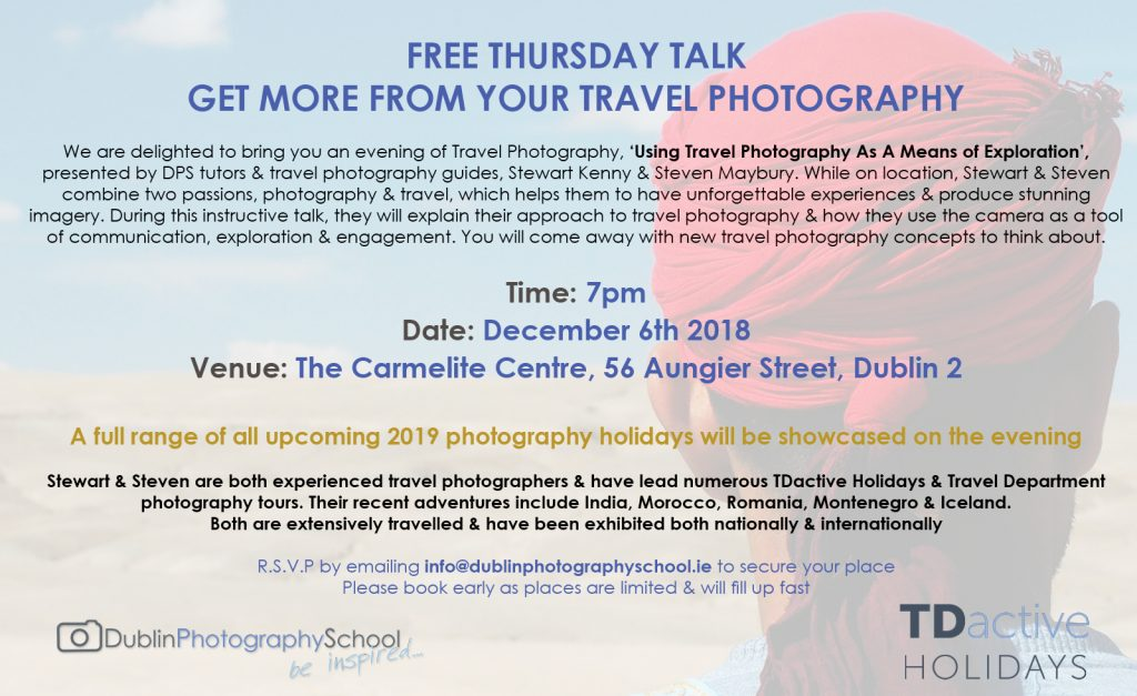 photography holidays from ireland